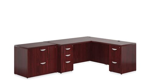 Wood L Shaped Desks Offices To Go Ventnor Wood Veneer L Shaped Desk Collection