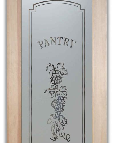 pantry doors glass etched frosted grapes strand