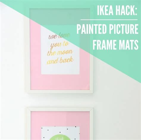 diy picture frame matting colors diy hack paint ikea ribba picture frame mats the