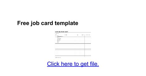 free job card template google docs
