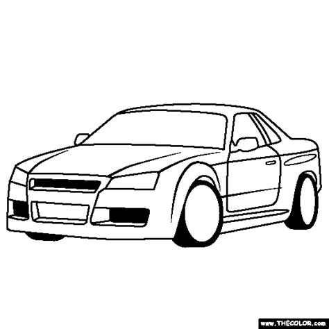 nissan cars coloring pages nissan gt colouring pages