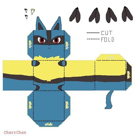 Lucario Papercraft - 17 best images about stuff u can make on lord
