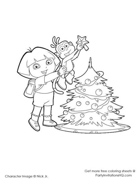 free coloring pages of dora nick jr
