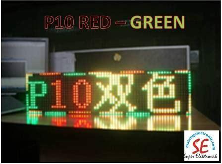 Led Modul P10 Merah Semi Outdoor jual p10 led matriks rgb module p10 green harga