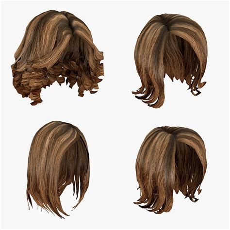 Model Hairstyles by 3d Model Of Hairstyles Pack