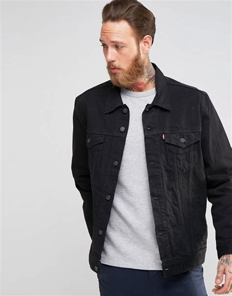 Jaket Jaket Levis Denim Hoodie 001 levis levi s black denim trucker jacket