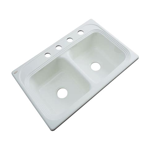 Acrylic Kitchen Sink Reviews Shop Dekor Master Basin Drop In Acrylic Kitchen Sink At Lowes