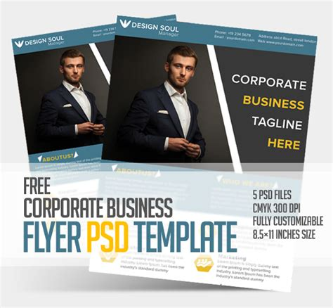 business flyer templates psd free corporate business flyer psd template freebies