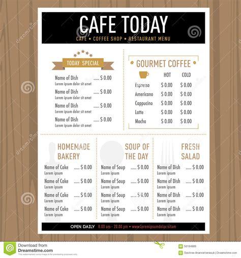 design cafe pacific design center menu menu design cafe restaurant template with icons and text