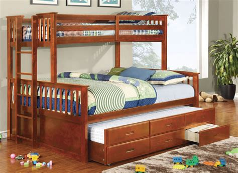 extra long bunk beds university oak extra long twin over queen bunk bed from