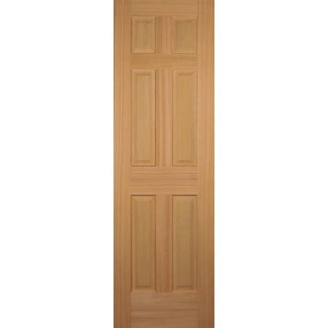 doors home depot interior builder s choice 24 in x 80 in hemlock 6 panel interior door slab hd66s20 the home depot