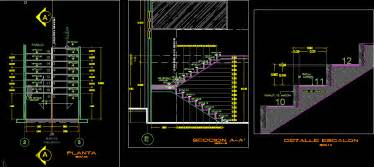 Stair Details Dwg Section For Autocad Designscad