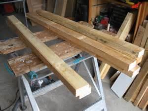 fabrication d une chevre pour couper du bois
