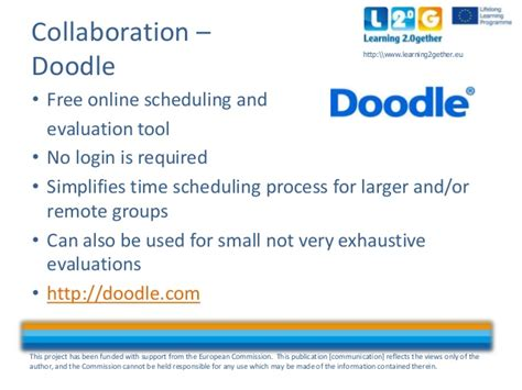 doodle scheduling login l2 g other social media tools collaboration