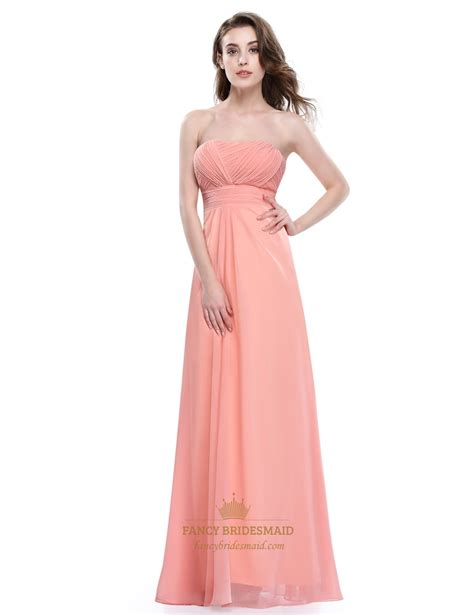 Dress Softpeach 1184s soft strapless a line empire prom dress with ruched bodice fancy bridesmaid dresses