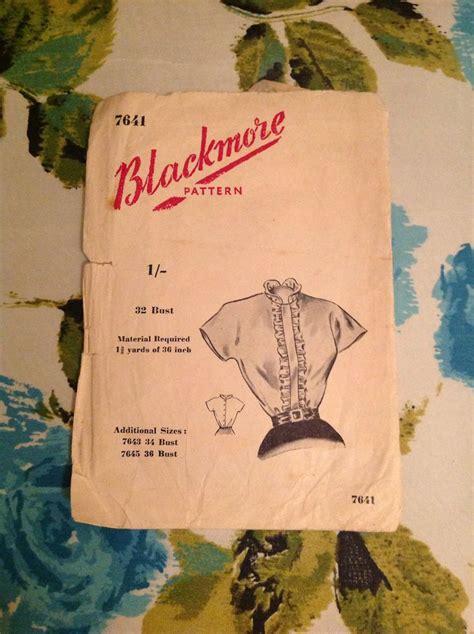libro vintage patterns 1950s a 1950s blackmore pattern vintage patterns blackmore 1950s and patterns