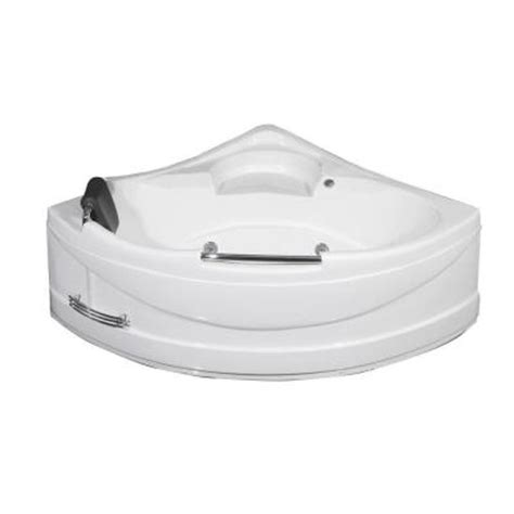 home depot corner bathtub aston mt618 4 9 ft fiberglass reinforced acrylic corner