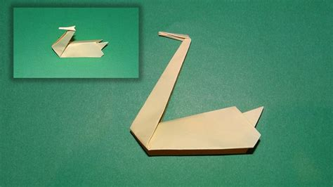 Origami Swan For Beginners - how to make an origami swan this will show you