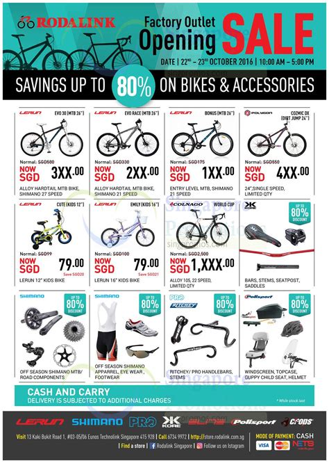Standar Mtb Sing Alloy Rodalink Bicycle Store Opening Sale W Up To 80 From