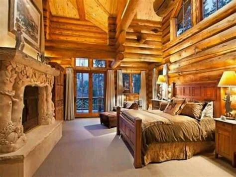 log cabin bed extravagant winter lodge master bedroom ideas