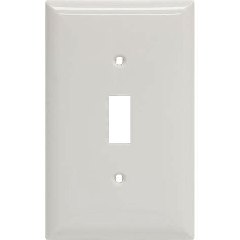 amerelle classic ceramic 1 toggle wall plate white