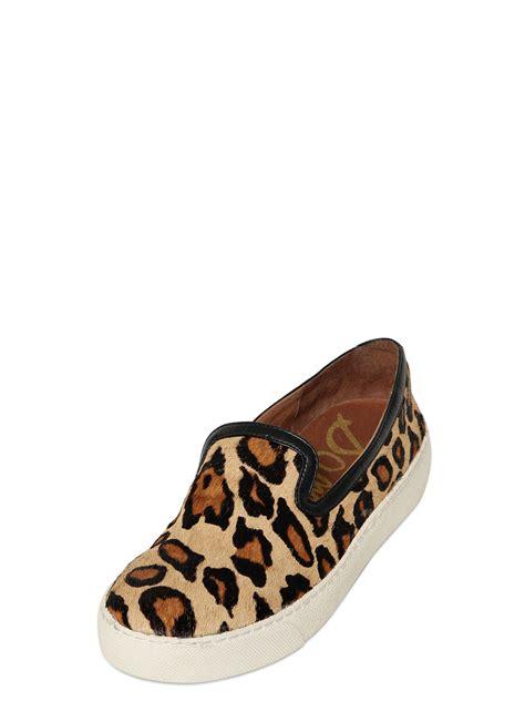 sam edelman leopard slip on sneakers sam edelman 20mm ponyskin slip on sneakers in animal