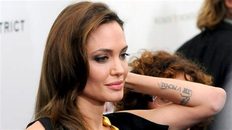angelina jolie wrist tattoo tattoos
