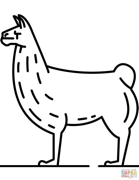 llama coloring pages llama coloring page free printable coloring pages