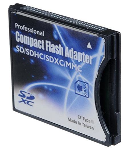 Memory Adapter Dslr sd sdhc mmc eye fi card to compact flash cf type ii adapter import it all
