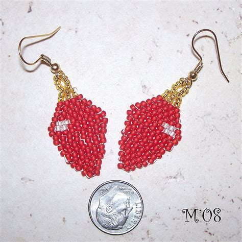 pattern for beaded christmas earrings 116 best beaded xmas patterns decorations images on