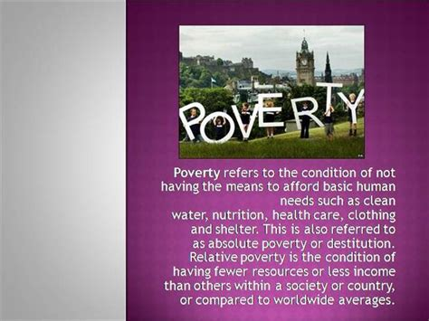 Poverty As A Challenge Authorstream Poverty Powerpoint Template
