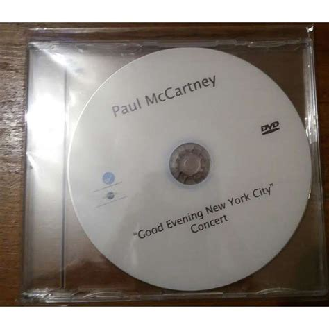 Cddvd Paul Mccartney Evening New York City evening new york city concert dvd promo by paul mccartney cd with hombre94 ref