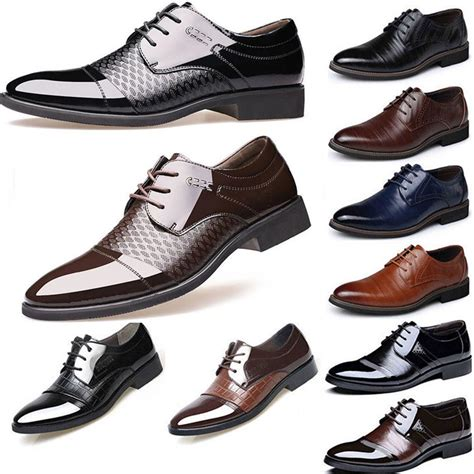 Fashion Leather Formal Shoes mens formal business oxfords leather shoes casual dress