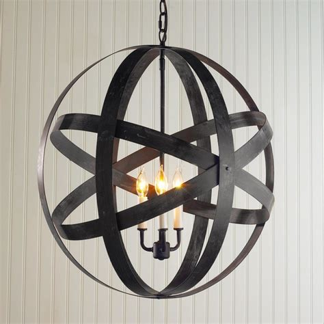 metal strap globe lantern large outdoor hanging lights