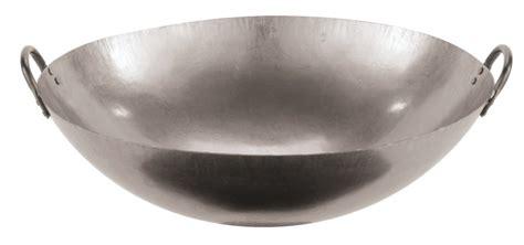 grote wokpannen paderno wok met 2 handvaten staal 216 71 cm cookinglife be