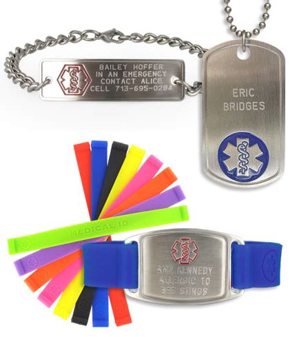 Free Engraved Medical ID Personalized Bracelt or Necklace