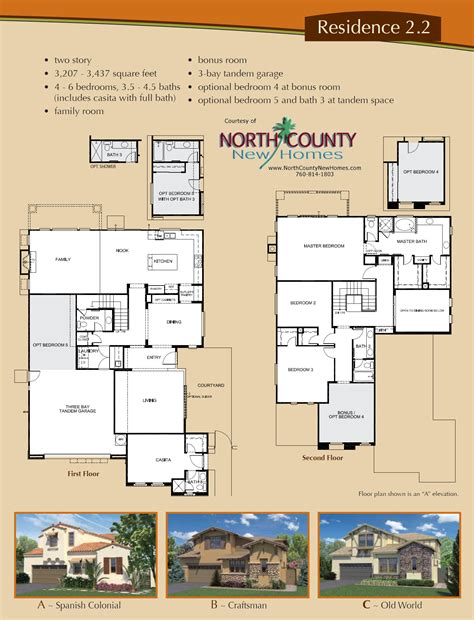 floor plans of houses for sale altaire floor plan 2 2 new homes for sale in san elijo hills