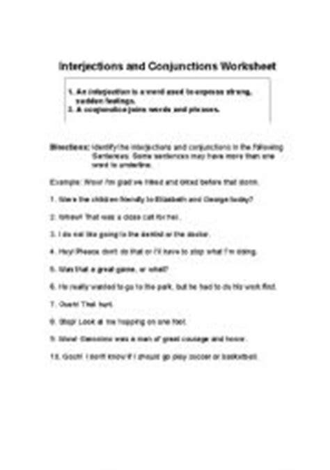 Interjections - ESL worksheet by lateacher010