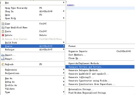 getter setter java definition myeclipse自动生成getter setter和构造方法 爱程序网