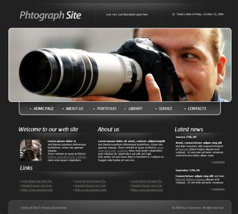 photography templates findout html template 4316 photography website