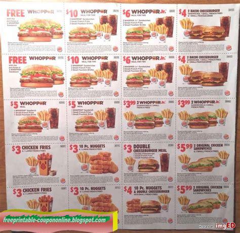 Burger King Printable Coupons 2018