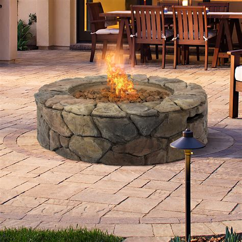 Gas Outdoor Firepit Bcp Design Pit Outdoor Home Patio Gas Firepit Ebay
