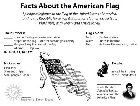 An American Worksheet Our Flag On Pledge Of Allegiance Flags And American Flag