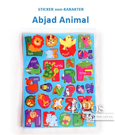 Sticker Stiker Anak Timbul Binatang Animals 2 jual sticker non karakter abjad animal binatang stiker hadiah anak gift logos