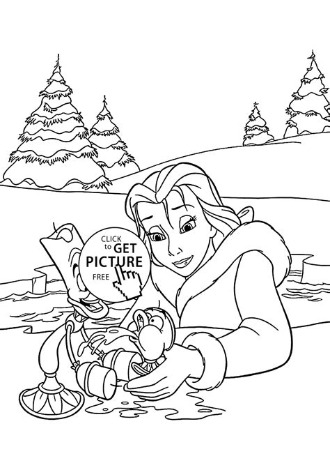 printable version of beauty and the beast beauty and the beast cartoon coloring pages for kids