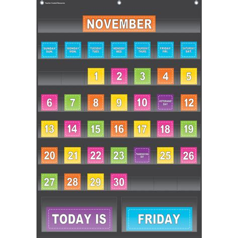 how to make a pocket calendar black calendar pocket chart tcr20748 created