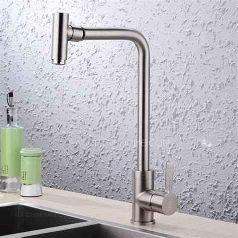 designer kitchen faucet designer rotatable nickel brushed finish single handle