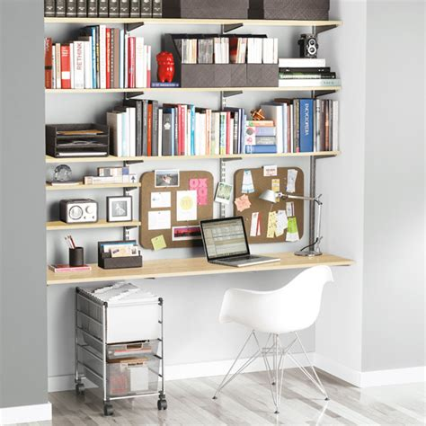 Container Store Wall Shelf by Sand Platinum Elfa Home Office Shelving The Container
