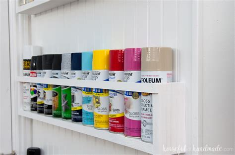 Shelf Paint by Diy Paint Storage Shelves Office Craft Room Makeover