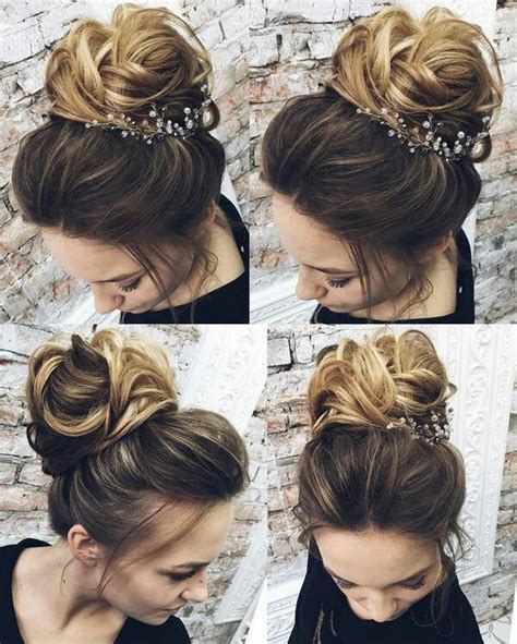 25 best ideas about high updo wedding on high updo high bun wedding and big updo